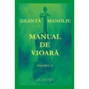 Manual de vioară (vol. II) - Geantă - Manoliu