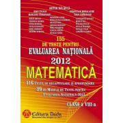 Evaluarea Naţionala 2012 - Matematica