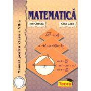 Matematica, manual pentru clasa a VII-a - Caba