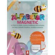 Alfabetar magnetic cu litere si silabe , pentru invatarea citit - scrisului , pe baza metodei fonetice , analitico - sintetice