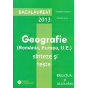 Geografie: bacalaureat 2013
