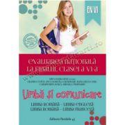 Evaluarea naţională 2015 la finalul clasei a VI-a • Limbă şi comunicare