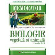 Memorator de biologie animală şi vegetală pentru clasele IX-X