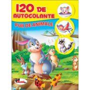 120 de autocolante - Puii de animale