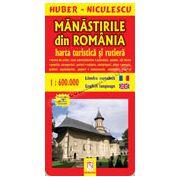 Mânăstirile din România. Hartă turistică şi rutieră