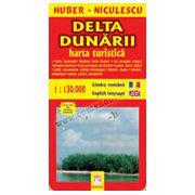 Delta Dunării. Hartă turistică şi rutieră
