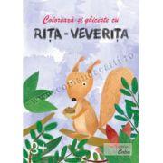Coloreaza si ghiceste cu Rita-Veverita, 3+ ani