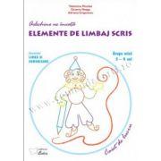Arlechino ne invata elemente de limbaj scris - caiet de lucru pentru 3-4 ani