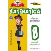 MATEMATICA. ALGEBRA, GEOMETRIE. CLASA A VIII-A. CONSOLIDARE. PARTEA I (MATE 2000)