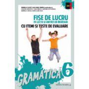 GRAMATICA. FISE DE LUCRU PENTRU CLASA A VI-A (CU ITEMI SI TESTE DE EVALUARE)