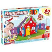 Supermag 3D – Jucarie Cu Magnet Casuta – 60 Piese