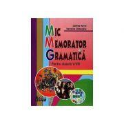 Mic memorator de Gramatica pentru clasele V-VIII