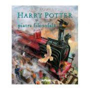 Harry Potter si Piatra filosofala (editie ilustrata) - J. K. Rowling