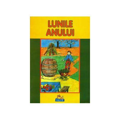 Lunile anului - Carte de citit si colorat