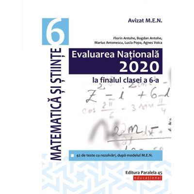 Evaluare Nationala 2020 Matematica-Clasa VI