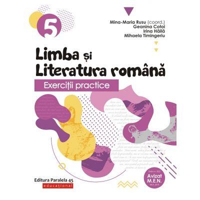 Exercitii practice de limba si literatura romana-Caiet de lucru pentru clasa V