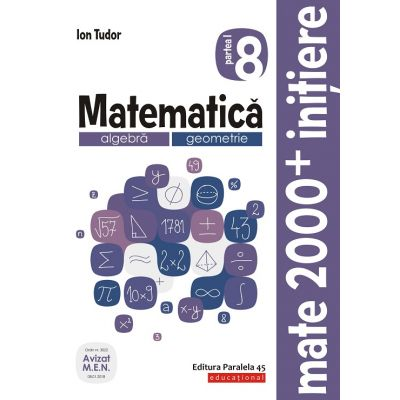 Mate 2000 Initiere(ed. 2020)-Caiet de lucru pentru clasa VIII