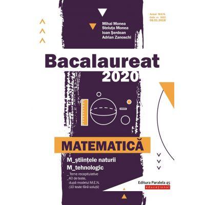 Matematica M2-BAC 2020